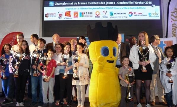 LES 14 CHAMPIONS DE FRANCE JEUNES 2016